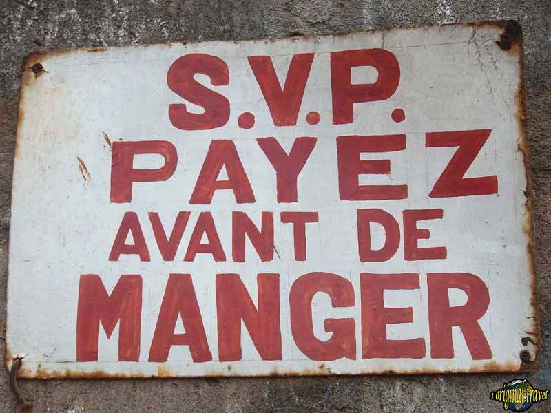 SVP Payez avant de Manger - Porto Novo - Bénin