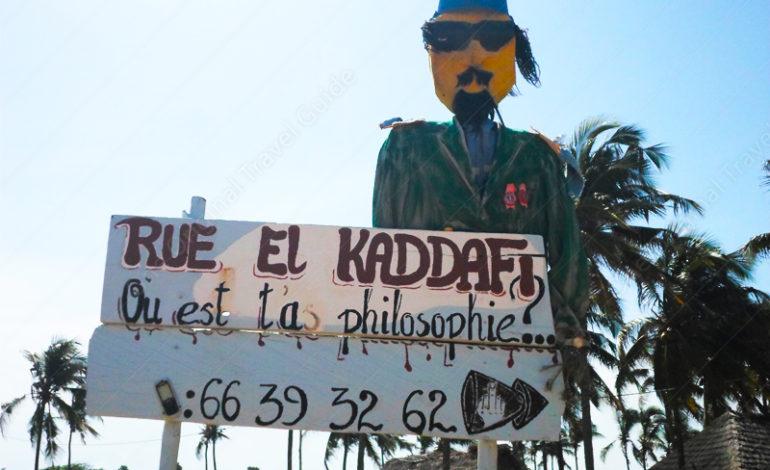 Rue » El Kaddafi » Où est ta philisophie ?