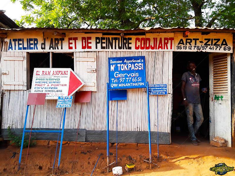 Atelier d'art et de peinture - Codjiart - Art Ziza - ouidah - Bénin