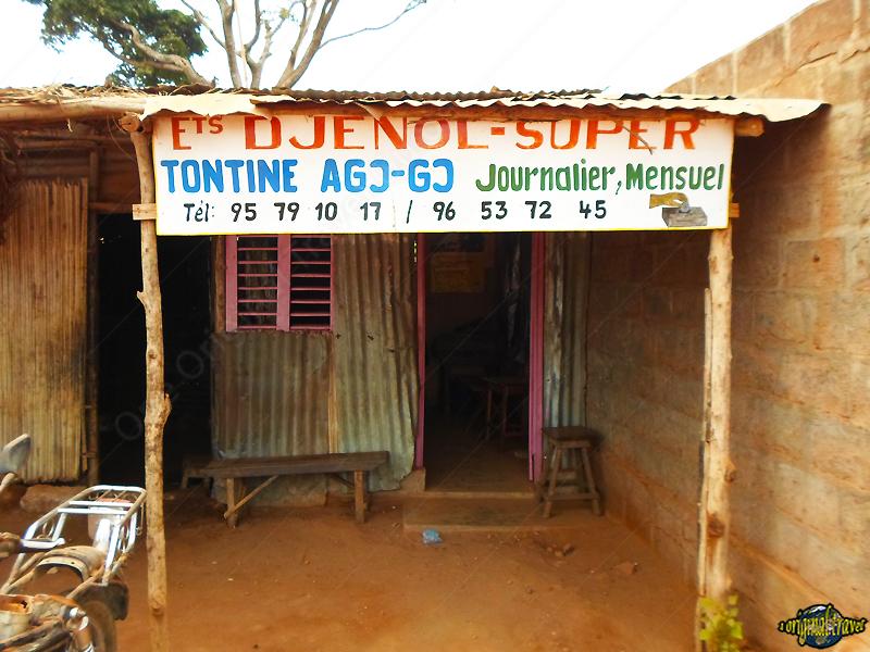 Panneau Tontine économie Afrique - Comé - bénin